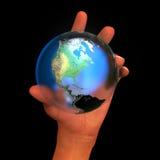 易碎的地球泡影 免版税图库摄影