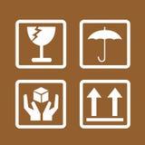 易碎的象标志例证设计 免版税库存照片