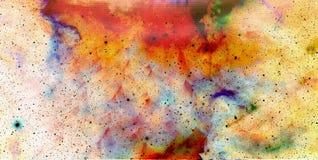 星云、宇宙空间和星,宇宙抽象背景 免版税库存图片