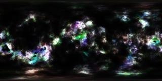 星云和星在外层空间360度环境全景 免版税库存图片