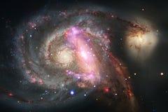 星云和星系在空间 美国航空航天局装备的这个图象的元素 免版税库存图片