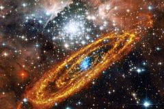 星云和星系在空间 美国航空航天局装备的这个图象的元素 图库摄影