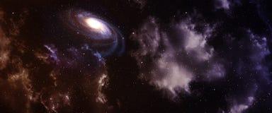 星云和星系 免版税库存图片
