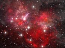 星云红色空间星形 库存图片