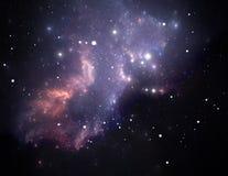 星云紫色空间星形 库存图片