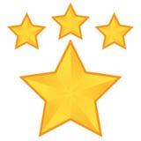 星五芒星形 库存照片