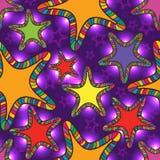 星五颜六色的轻的无缝的样式 库存图片