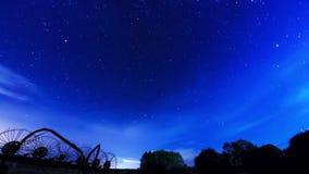 星和云彩的运动。时间间隔 影视素材