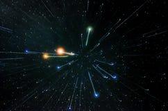 星和星系外层空间天空夜宇宙背景 免版税库存照片