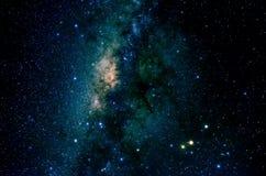 星和星系空间天空夜背景 免版税库存图片