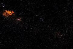 星和星系空间天空满天星斗的背景 免版税库存图片