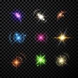 星和行星集合背景 皇族释放例证