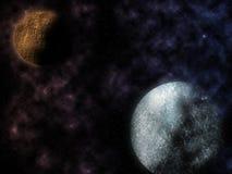 星和行星 免版税图库摄影