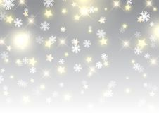 星和雪花圣诞节背景  库存照片