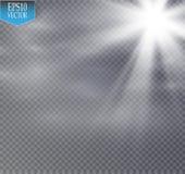 星和雾或者烟雾在透明背景 皇族释放例证