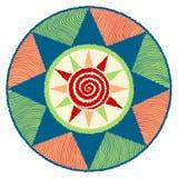 星和swirly凹线太阳 库存照片