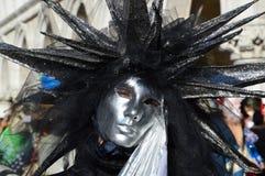 星喜欢在黑色的面具 免版税图库摄影
