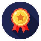 星在平的设计的徽章象 免版税库存照片