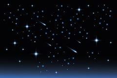 星夜空-储蓄例证 库存照片