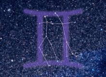星座双子星座黄道带 图库摄影