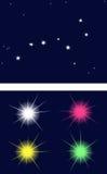 星座是北斗七星 库存照片