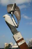 星座雕塑布鲁斯阿姆斯特朗和杰弗里Bartlet在墨尔本 免版税库存照片