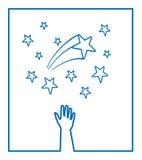 星形向量 皇族释放例证