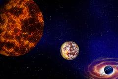 星形和行星 免版税库存照片