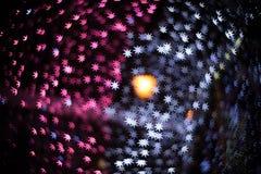 星形成了圣诞节bokeh 库存照片