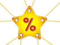 星形标签 免版税库存图片