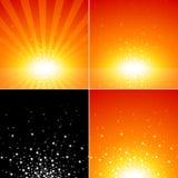 星形爆炸集 免版税库存照片