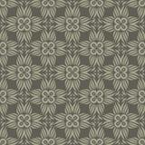 星形状花设计在灰色口气的无缝的样式背景例证 库存例证