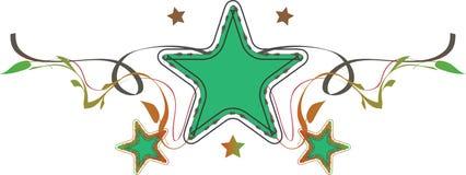 星形背景,向量例证 免版税库存照片