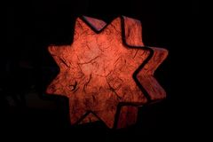 星形顶部结构树 库存图片