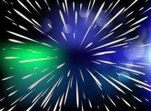 星形 飞行通过星以光速 皇族释放例证