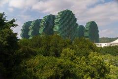 7星旅馆三亚` s秀丽冠在吉尼斯世界记录包括作为世界` s最大的旅馆 库存照片