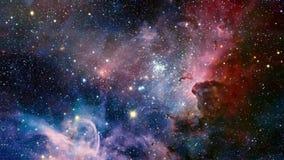 星星云 在外层空间的星系 外层空间探险 星际和星云在空间 股票视频