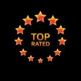 星最高评价的圈子 库存照片