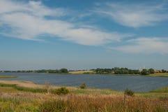 星期一海岛海岸线在丹麦 库存图片