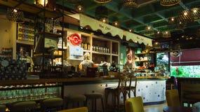 星期一Cheri咖啡店 库存图片
