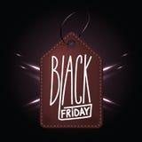 黑星期五的购物的da优质深红皮革徽章 库存例证