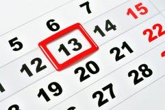 星期五第13 免版税库存照片
