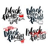 黑星期五销售手字法横幅 库存图片