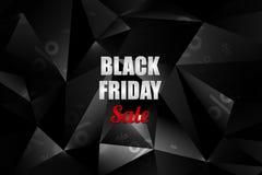 黑星期五销售装饰有抽象多角形背景 增进设计模板 图库摄影