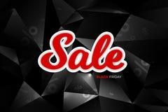 黑星期五销售装饰有抽象多角形背景 增进设计模板 库存图片