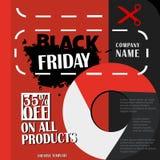 黑星期五,大销售,在平的设计的创造性的模板 皇族释放例证