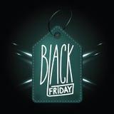黑星期五购物的优质深绿皮革徽章 皇族释放例证