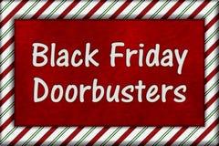 黑星期五购物的Doorbusters 免版税库存照片