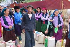 星期天市场,在越南北部的Meo Vac, 库存照片