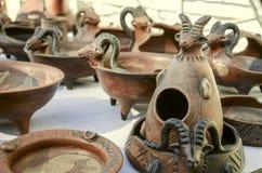 星期天黏土清仓拍卖纪念品与安心样式的 免版税库存照片